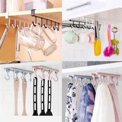 1pc Kitchen Clothes Storage Rack Cabinet Cupboard Hooks Organizer Towel Hanger