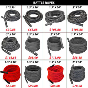 Battle Battling Woven Nylon Covered Rope Crossfit Endurance