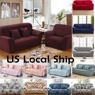 3 Seat Sofa Slipcover (Stretch Chair Sofa Love Seat Covers 1 2 3 Seater Protector Couch Cover)