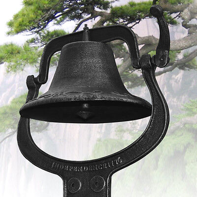 "14"" Large Cast Iron Dinner Farm Bell Antique Vintage Style Church School New"