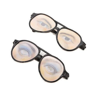 1x HALLOWEEN PARTY Funny Glasses Fake Novelty Gag Prank Eye Ball Joke Toys - Funny Eyeball Glasses