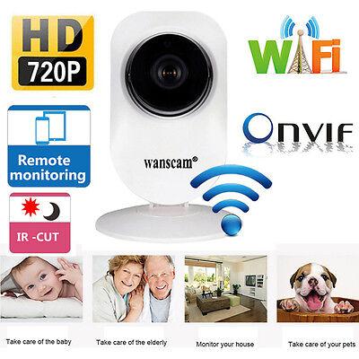Wireless HD720P WiFi ONVIF In/Outdoor IR Cut Security IP Camera Night Vision
