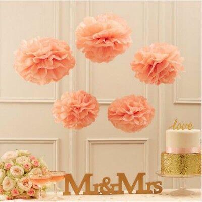 10 Stück Papier Pom Poms DIY Kugelblume Dekoration 25cm Durchmesser - Apricot