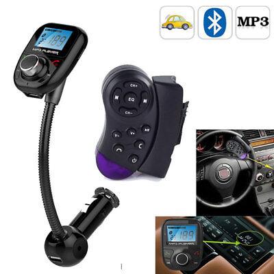 Auto Bluetooth FM Transmitter USB Ladegerät MP3 Player Freisprecheinrichtung DE