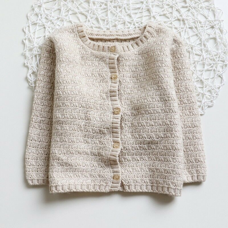 Kids Baby Girls Knitted Cardigan Sweater Toddler Winter Warm Coat Tops Outwear
