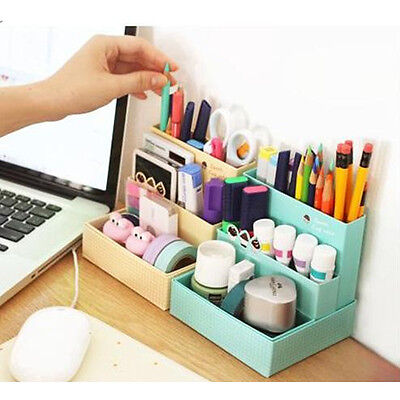 DIY Paper Board Desk Decor Storage Box Stationery Cosmetic Makeup Organizer - Diy Desk Organizer