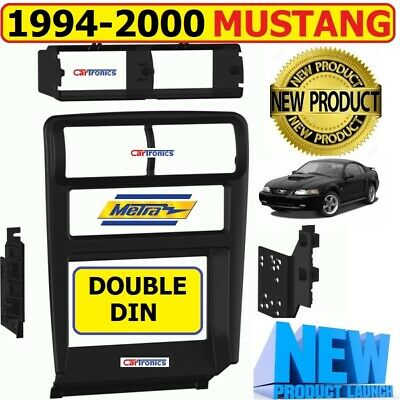 1994-2000 FORD MUSTANG CAR STEREO RADIO DOUBLE DIN INSTALLATION DASH KIT BEZEL ()