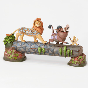 Disney By Jim Shore: Simba, Timon & Pumbaa Cross The Log