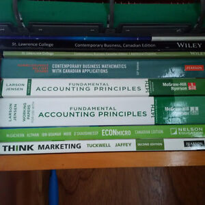 SLC St Lawrence College First Year Business Textbooks