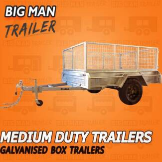 ➐7x4➐➐ Black Wheel GalvaniSed Trailer With Cage➐➐➐➐➐➐※