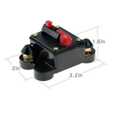 300a Car Audio (300A Car Auto Audio Circuit Breaker Inline Fuse Inverter Waterproof Manual Reset)