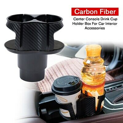 Carbon Fiber Center Console Drink Cup Holder Box Fits Car Interior Accessory