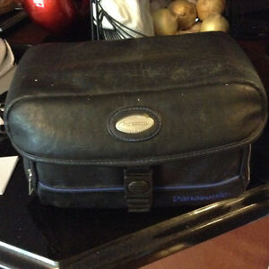 Panasonic camcorder with leather case