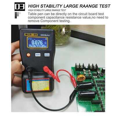 Mesr-100 Esr Low Ohm Meter Capacitance Resistance Capacitor In Circuit Tester