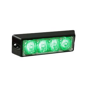 Green Volunteer Firefighter LED strobe warning dash light