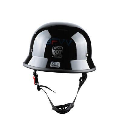 German Style Shorty Helmet DOT Approved Adult Motorcycle Half Helme Size XL NEW Dot Approved German Helmet