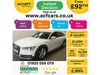 2016 WHITE AUDI A6 ALLROAD 3.0 TDI 218 QUATTRO DIESEL AUTO CAR FINANCE FR £92 PW