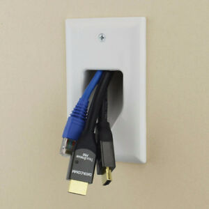 Datacomm 1-Gang Recessed Cable Plate