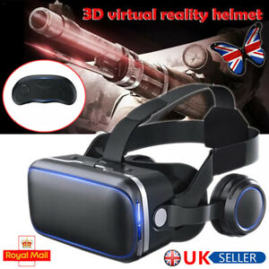 3D VR Headset Virtual Reality Glasses Compatible with iPhone & Android Phone UK