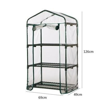 Greenhouse 3/4/5Tiers Green Hot Plant Fine House Shed Garden Storage Cover Apex