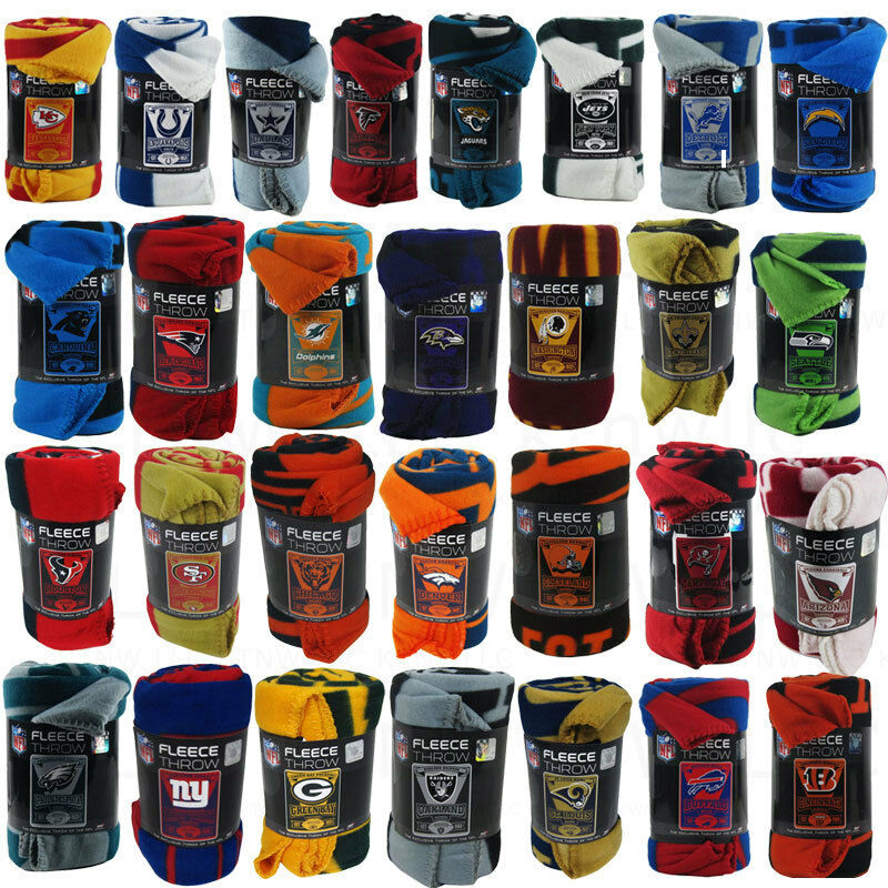 New Northwest NFL Teams New Logo Large Soft Fleece Throw Blanket 50