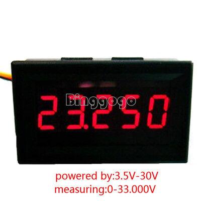 Red 5 Panels (Red 5 Digit DC 0-4.3000-33.000V Precision Digital Voltmeter Voltage Metre Panel)
