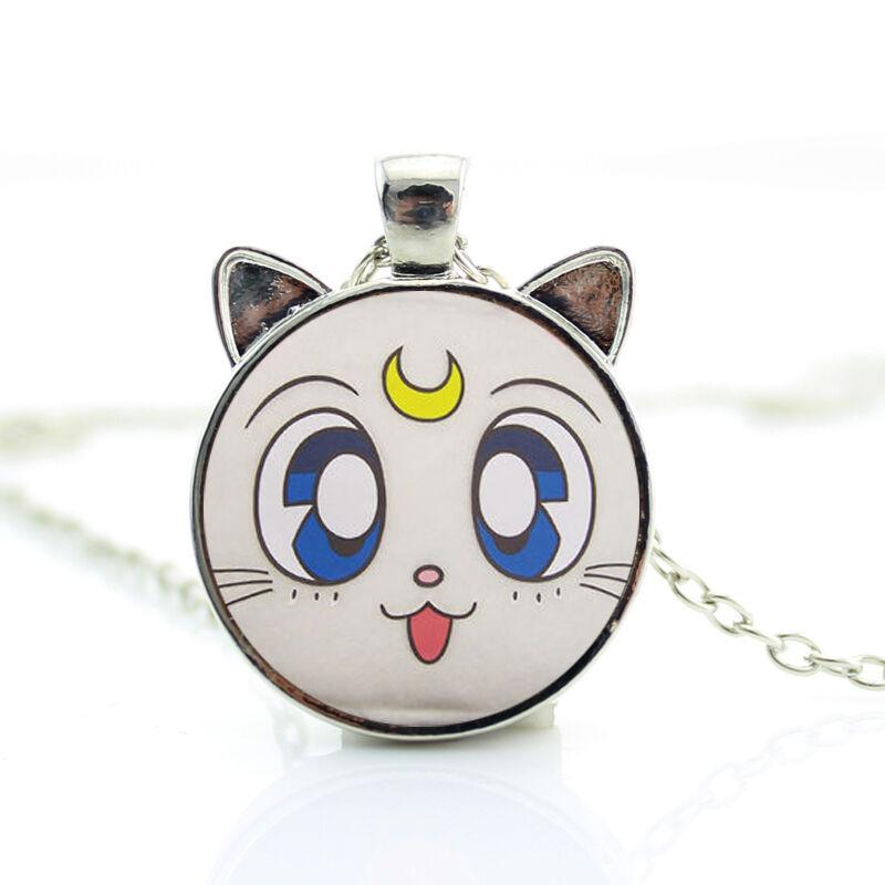 UK SAILOR MOON CAT ANIME PENDANT NECKLACE Artemis Jewellery Gift Idea Cartoon