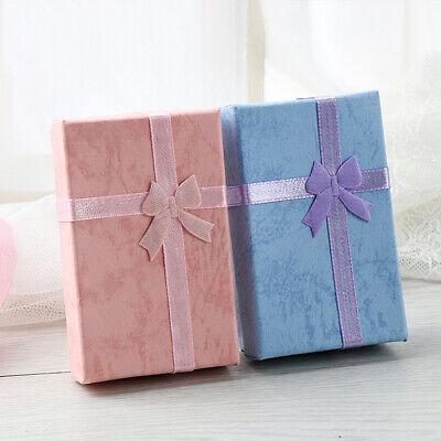 12x Schmucksachen Geschenk Bow Ribbon Papier Kästen Ring Ohrring Container Box
