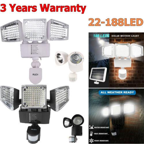 22/188 LED Solar Motion Sensor Security Detector Spot Light