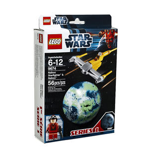 LEGO Star Wars 9674 Naboo Starfighter & Naboo, NEW and Sealed