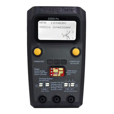 Esr02 Pro Multi-purpose Transistor Tester Capacitance Resistor Meter Lcd Esr Cao