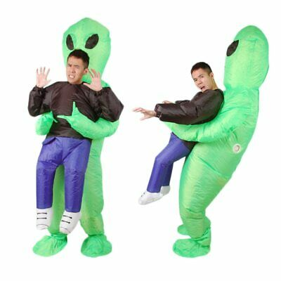 Inflatable Monster Costume Scary Green Alien dinosaur Mascot Cosplay Costume - Scary Dinosaur Costume
