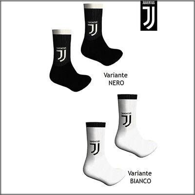 Calzettoni uomo calze tennis Juventus sport spugna cotone Juve bianco nero