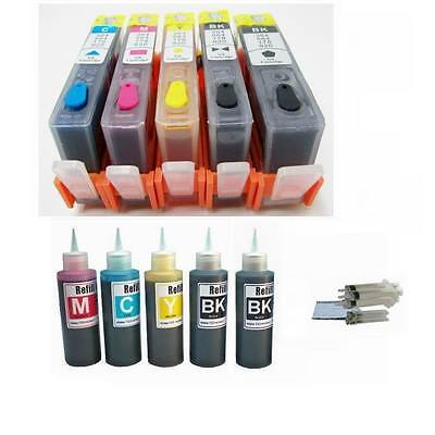 5p Refillable Ink Cartridge With Chip Hp 564 Xl Photosmar...