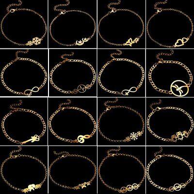 Animal Gold Bracelet - Fashion Stainless Steel Gold Animal Heart Bracelet Bangle Charm Gift Adjustable
