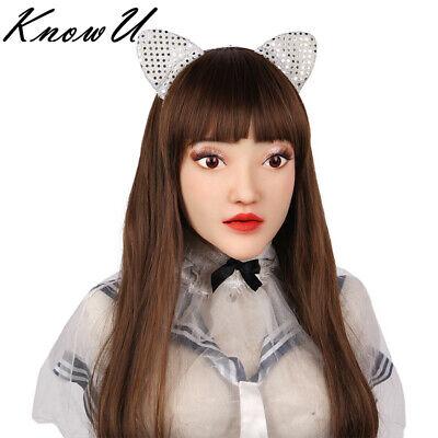 kon weibliche Kopfbedeckungen realistische Göttin Gesicht (Realistische Halloween Maske)