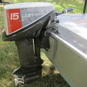 15 Hp Johnson, 14' Aluminum Boat and Trailer