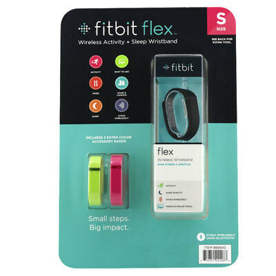 Fitbit Flex Wireless Activity + Sleep Wristband Bundle Small 211-130105