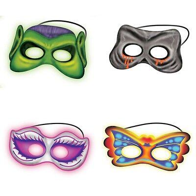 Halloween Fancy Dress Costume Glow In The Dark Mask & 4 Glow Sticks NEW - Glow Sticks Halloween Costume