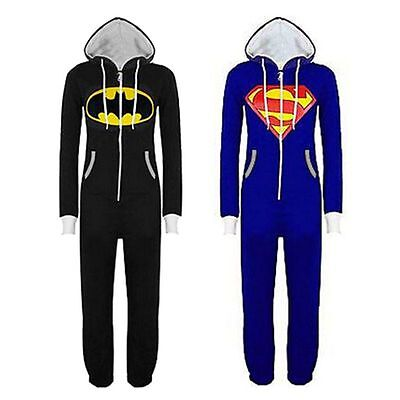 2018 Onesie Erwachsene Overall Batman Superman Jumpsuit Kapuze Trainingsanzug