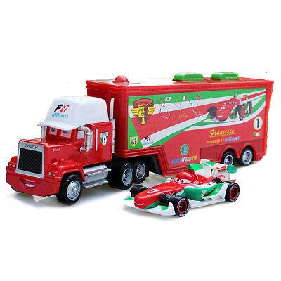 Pixar Cars Francesco Bernoulli & Mack Truck Racing Diecast Play Set Toy US