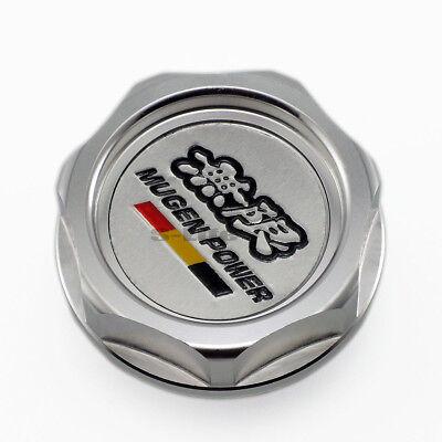 Silver Mugen Car Engine Oil Fuel Filler Filter Tank Cap Cover Plug For Honda