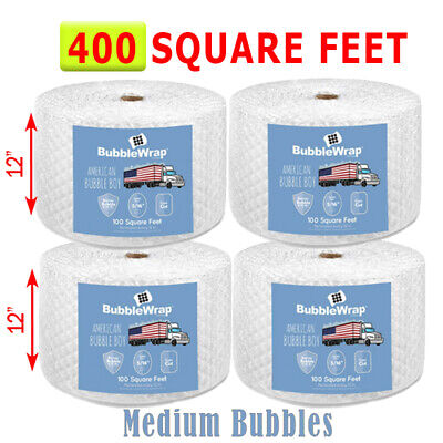 400 Feet Medium Bubble Wrap Roll 12 Wide 516 Bubbles Perforated 12 Premium