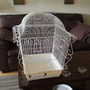 Large White Fancy Bird Cage For Sale