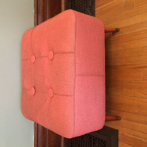 """REDUCED:  Cool Piece!  Large 24x24"""" Retro Hassock"""