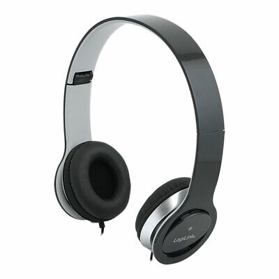 Headset Stereo Mikrofon Kopfhörer Overear PC Smartphone Computer Laptop Schwarz - Mikrofon Pc Computer
