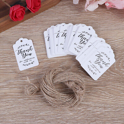Bridal Shower Thank You Gifts (100* Kraft gift tags Thank You paper tags for baby shower party wedding gift)
