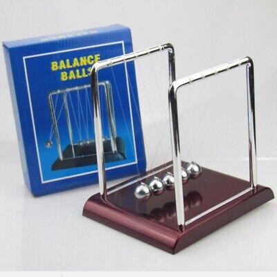 Newtons Cradle Pendulum Balance Stainless Ball Physics Office Desktop Decor Gift