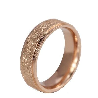 18k Rose Gold Plated Stardust Stainless Steel Rings Valentine's Day For Her - Rings For Valentine's Day
