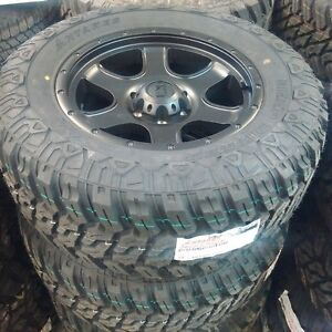 """brand new 18"""" FX Wheels and 33"""" mud tires"""